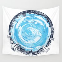 cities Wall Tapestries featuring Paronamic NZ by MARIA BOZINA - PRINT