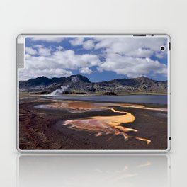Iceland volcanic mountains at summer day Laptop & iPad Skin