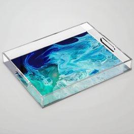 Ocean blues Acrylic Tray