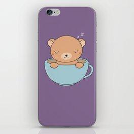 Kawaii Cute Coffee Brown Bear iPhone Skin