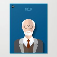 freud Canvas Prints featuring Freud by Diretório do Design