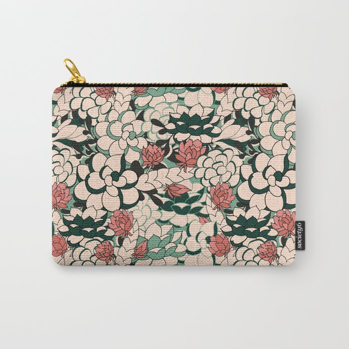 Agave Scculent Carry-All Pouch