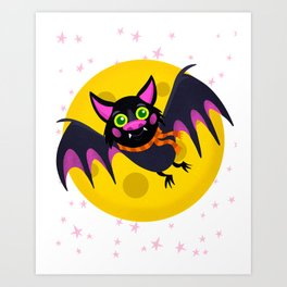 Halloween Bat Art Print