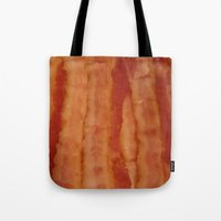 bacon Tote Bags featuring BACON by ....
