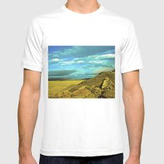 Wonderful landscape. MEDIUM Mens Fitted Tee White