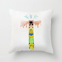 Game Totem Throw Pillow
