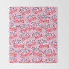 Birthday Cake - Pink BG Throw Blanket