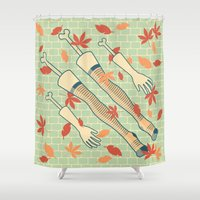 fall Shower Curtains featuring fall by freshinkstain