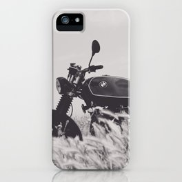 Scrambler photography, motorcycle lovers, motorbike, café racer, cafe racer, man cave gift iPhone Case