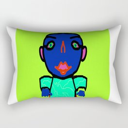 Hypno Boy, created by Mickeys Art And Design. Rectangular Pillow
