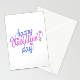 Cute Happy Valentine's Day Calligraphy Greeting Stationery Cards