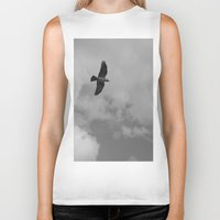 crow Biker Tanks featuring crow by habish