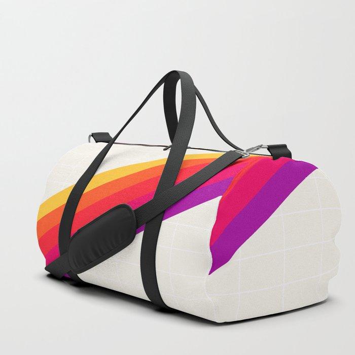 VHS Rainbow 80s Video Tape Duffle Bag