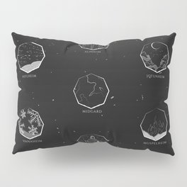 The Nine Realms - Nordic World Map Pillow Sham