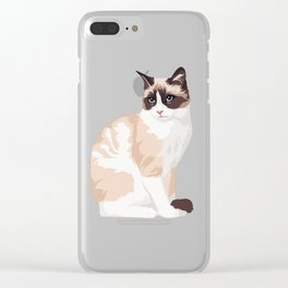 cute cat Clear iPhone Case