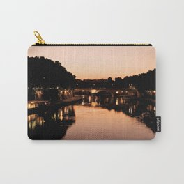 Tiber river at sunset Carry-All Pouch