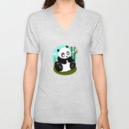 Baby Panda Unisex V-Neck