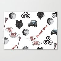 teen wolf Canvas Prints featuring Teen wolf  by Courtney