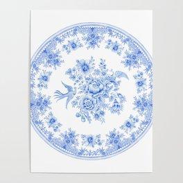 Blue asiatic pheasant Poster