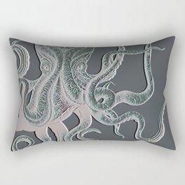 VINTAGE OCTOPUS Negative Grey Rectangular Pillow