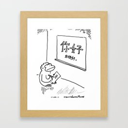 Ape Is Taught to Read Chinese Framed Art Print