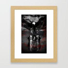 For the Love of Besiktas (B&W) Framed Art Print