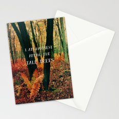 I Am Happiest Among the Tall Trees Stationery Cards