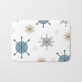 Mid Century Modern Starburst Snowflakes Bath Mat