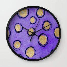 Dots (Purple & Gold) Wall Clock