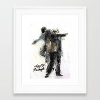 daft punk Framed Art Prints featuring Daft Punk by Jason Cai