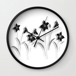 Schwarze Lilien - Black Lilies Wall Clock