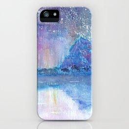 Watercolor Blue Island iPhone Case