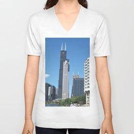 Chicago Historic Skyline Unisex V-Neck