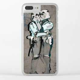 Kissing Clones Clear iPhone Case
