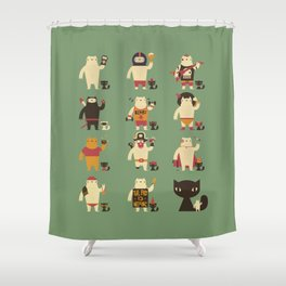 Fashion Emergency Shower Curtain