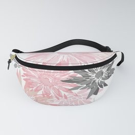 Floral Garden Abstract, Blush Pink and Gray Fanny Pack