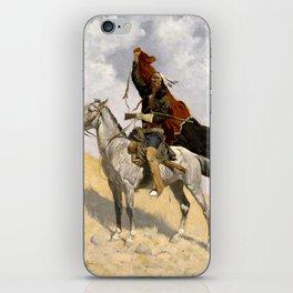 "Frederic Remington Western Art ""The Blanket Signal"" iPhone Skin"