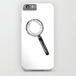 Magnifying Glass Sketch iPhone Case