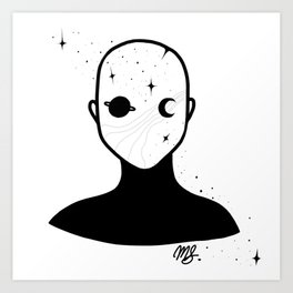 Space alien Art Print
