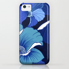 Blue For Poppies iPhone 5c Slim Case