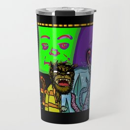 Monkey Mural  Travel Mug