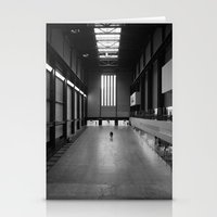 kris tate Stationery Cards featuring Tate Modern by Evan Morris Cohen