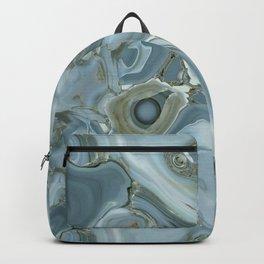 Precious Teal Blue Gemstone Agate Collage Backpack
