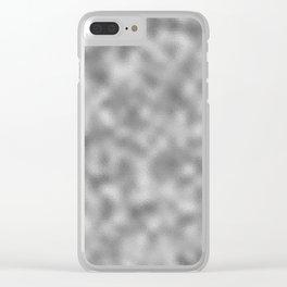 Silver Foil Clear iPhone Case