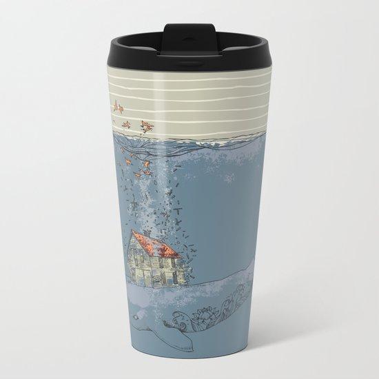 Ocean Home Metal Travel Mug
