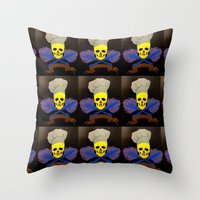 chef Throw Pillows featuring chef by Albano Juliano