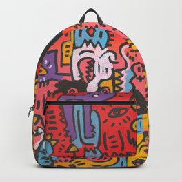 Sweet Monsters Acrylic Painting and Posca Backpack