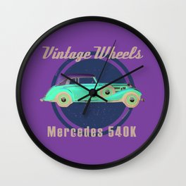 Vintage Wheels - Benz 540K Wall Clock