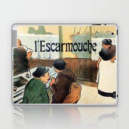 L'Escarmouche Vintage French bar scene Laptop & iPad Skin