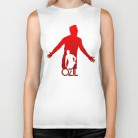 arsenal Biker Tanks featuring Mesut Ozil by Sport_Designs